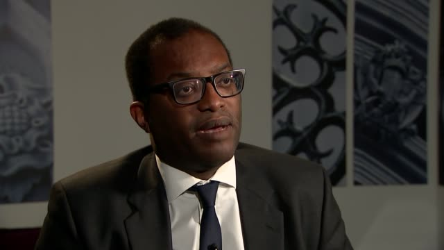Jeremy Corbyn insists he should lead a temporary government amidst growing opposition ENGLAND London Westminster INT Kwasi Kwarteng MP interview SOT