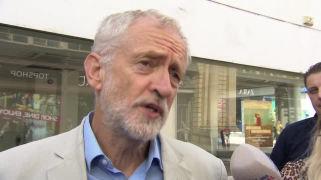 Jeremy Corbyn insists only he should be installed as caretaker Prime Minister to prevent nodeal Brexit ENGLAND Greater Manchester Bolton EXT Jeremy...