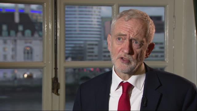 jeremy corbyn interview; england: london: westminster: int jeremy corbyn mp interview part 2 of 2 - jeremy corbyn stock videos & royalty-free footage