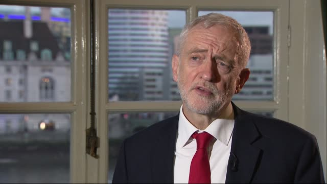 jeremy corbyn interview england london westminster int jeremy corbyn mp interview part 1 of 2 - jeremy corbyn stock videos and b-roll footage
