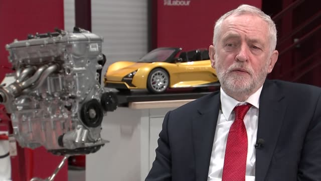jeremy corbyn interview england warwickshire coventry coventry university national transport design centre int jeremy corbyn mp interview sot re a... - warwickshire stock videos & royalty-free footage