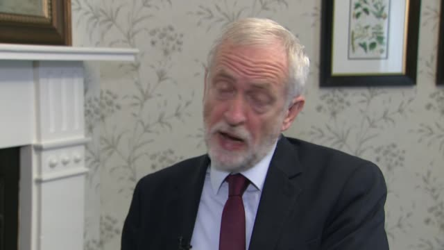 jeremy corbyn interview; republic of ireland: dublin: int jeremy corbyn mp interview continued sot - re investigation of alleged anti-semitism in... - jeremy corbyn stock videos & royalty-free footage
