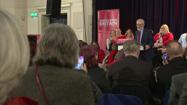 Jeremy Corbyn refuses to take part in crossparty Brexit talks ENGLAND Sussex Hastings INT Various of Jeremy Corbyn MP to podium and at podium Jeremy...