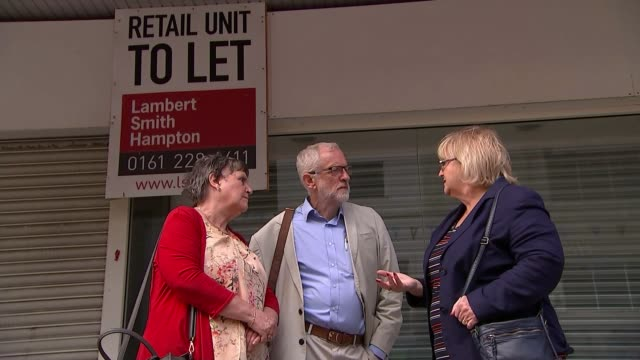 Jeremy Corbyn says he has plan to save Britain's high streets from retail apocalypse ENGLAND Greater Manchester Bolton EXT Jeremy Corbyn MP talking...