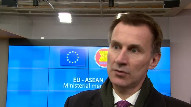 Jeremy Hunt interview BELGIUM Brussels INT Jeremy Hunt MP interview SOT It's not Plan A because we had Plan A we took that to the Commons and that...