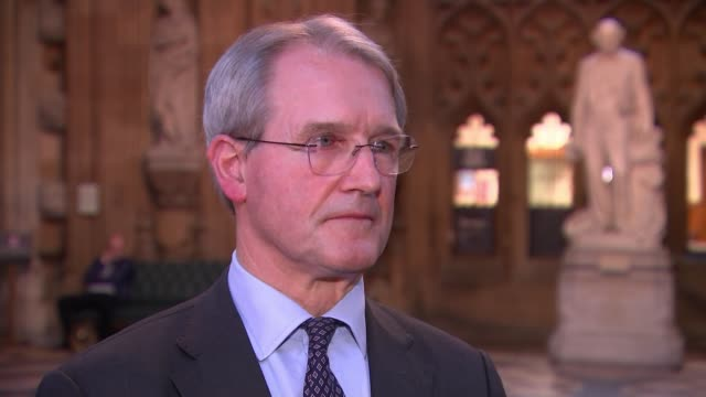john bercow bans theresa may from bringing deal back to the commons for a third vote england london westminster int owen paterson mp interview sot... - オーウェン・パターソン点の映像素材/bロール