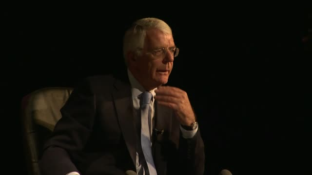John Major says Brexitsupporting MPs have gone too far in criticising Prime Minister ENGLAND Tyne and Wear South Shields INT John Major speech SOT