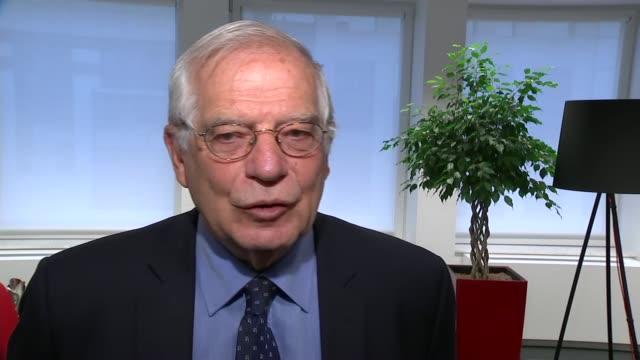 Josep Borrell interview BELGIUM Brussels INT Josep Borrell interview SOT