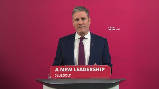 keir starmer press conference on uk-eu trade deal; england: london: keir starmer press conference sot - that's why i can say today we will accept it... - tired stock videos & royalty-free footage