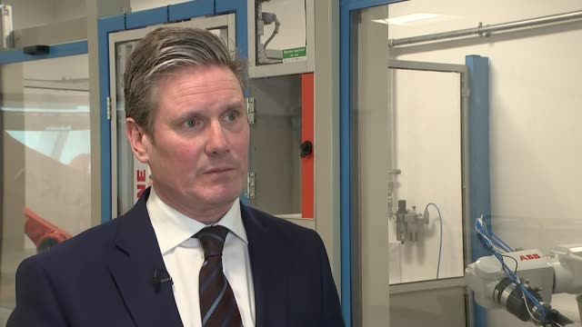 Labour Party to try to build parliamentary majority to reject a 'no deal' Brexit Starmer interview ENGLAND Birmingham INT Sir Keir Starmer MP...