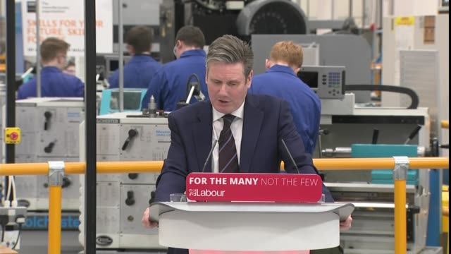 Labour Party to try to build parliamentary majority to reject a 'no deal' Brexit Chapman and Starmer speeches ENGLAND Birmingham INT Sir Keir Starmer...
