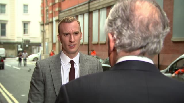 leo varadkar issues stark warning over need to resolve northern ireland's border question england london ext lord hain set up shots with reporter /... - leo varadkar stock videos and b-roll footage