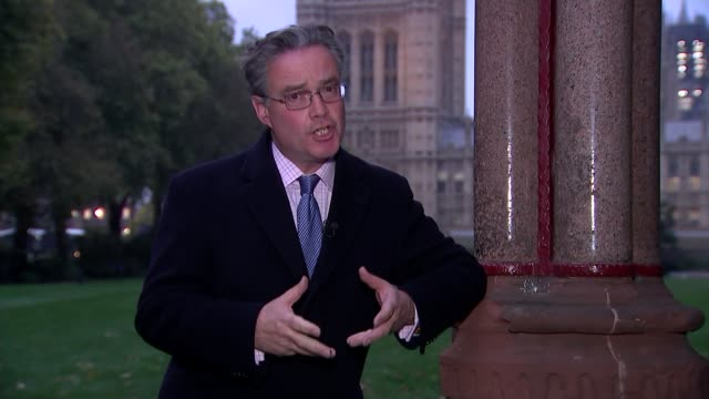 'brexit limbo' in westminster as eu leaders appear to back brexit delay england london westminster ext reporter to camera victoria tower - victoria tower stock videos & royalty-free footage