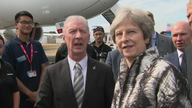May accused of caving in to hard line Brexiteers after accepting amendments to Brexit bills from the European Reform Group UK Hampshire Farnborough...