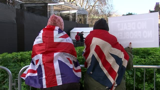 met police says it will deal robustly with protesters who abuse mps outside parliament uk london westminster protesters and police / cherry karen... - victoria tower stock videos & royalty-free footage