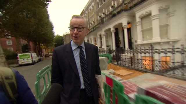 Michael Gove doorstep interview ENGLAND London EXT Michael Gove MP doorstep interview SOT [re Brexit negotiations] Theresa May has full support of...
