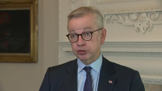 michael gove interview; england: london: westminster: int michael gove mp interview sot. - we had a good meeting today... we had an opportunity to... - innovation stock videos & royalty-free footage