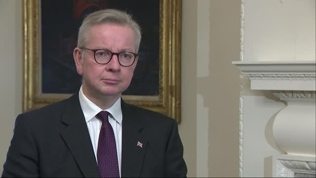 michael gove interview; england: london: westminster: int michael gove mp interview sot q: on why england, scotland and wales can't have access to... - fantasy stock videos & royalty-free footage