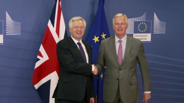 Brexit Minister David Davis says It's time to get down to work and make this a successful negotiation as Britain and the European Union launch a new...