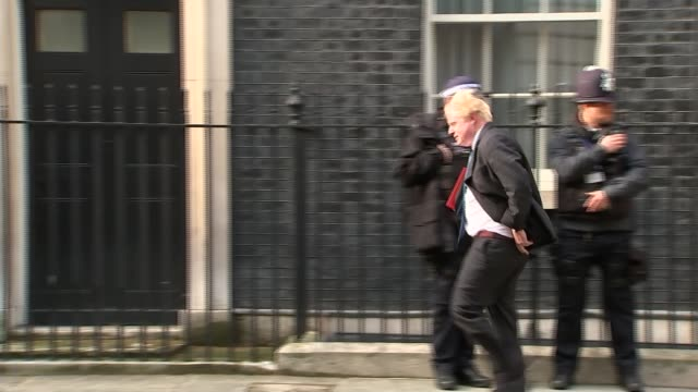 ministers split over future customs arrangement postbrexit london downing street boris johnson mp leaving number 10 press camera operator taking... - liam fox politician stock videos and b-roll footage
