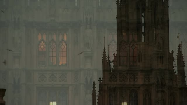 stockvideo's en b-roll-footage met more labour mp's to vote against triggering article 50 ext / night lights in window of houses of parliament building various of birds flying over... - artikel