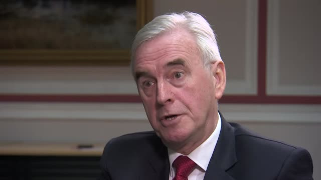 MPs prepare for potentially decisive week UK Dundee John McDonnell MP interview delegates in audience at the Scottish Labour Party Conference...