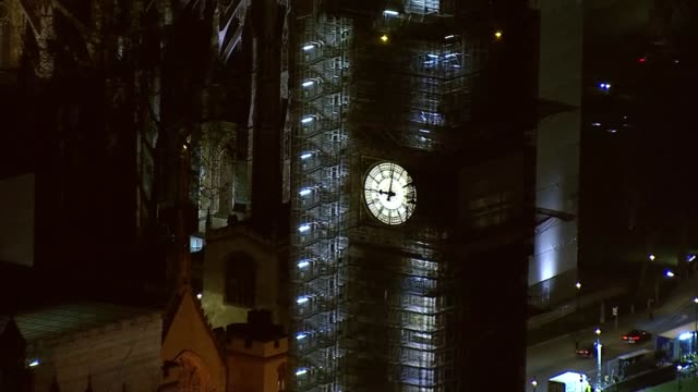 mps prepare to vote on eu withdrawal agreement westminster at night aerials england london westminster westminster and the houses of parliament /... - parliament stock videos & royalty-free footage