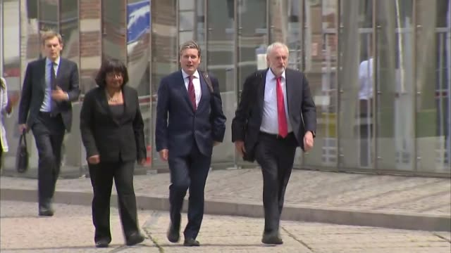 mps to vote on eu withdrawal bill ext labour party leader jeremy corbyn along with keir starmer mp and diane abbott mp - diane abbott stock videos & royalty-free footage