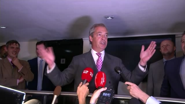 nationals in uk give their views; t24061603 / tx 24.6.2016 england: london: int nigel farage mep speech sot - let june the 23rd go down in our... - nigel farage stock videos & royalty-free footage