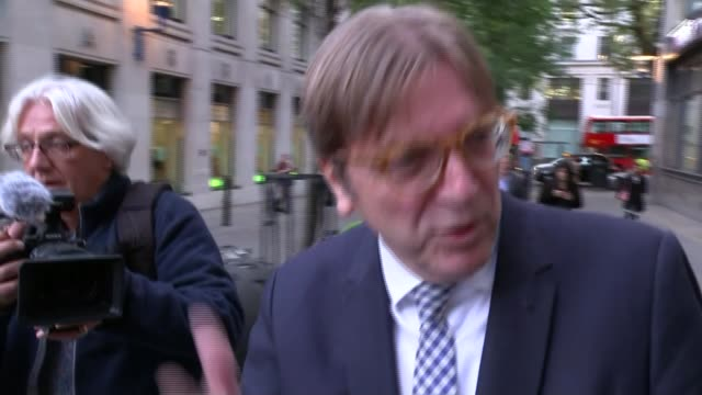 negotiations have made progress but not enough on key issues / verhofstadt speech / carney speech england london ext channel 4 news reporter matt... - channel 4 news stock videos and b-roll footage