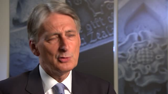 philip hammond interview england london int philip hammond mp interview re govt spending plans brexit and eu citizens living in uk resignation of... - chancellor of the exchequer stock videos and b-roll footage