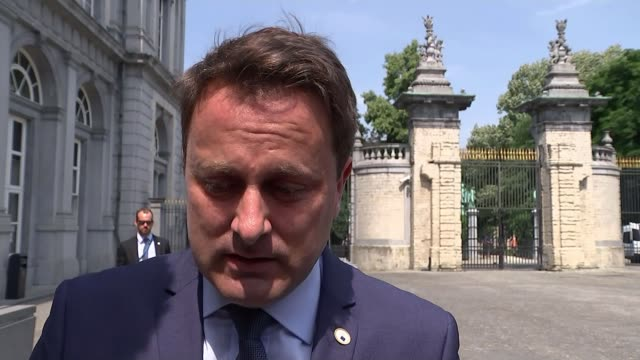 theresa may outlines plans on status of eu nationals living in uk; ext xavier bettel interview sot - re theresa may juha sipila interview sot people... - nationals park stock videos & royalty-free footage