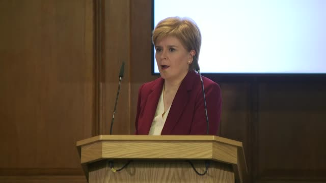 nicola sturgeon and mark drakeford joint press conference; england: london: church house: int nicola sturgeon msp and mark drakeford am press... - member of the scottish parliament stock videos & royalty-free footage