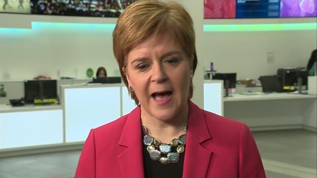 Nicola Sturgeon criticises draft withdrawal deal SCOTLAND Glasgow University of Strathclyde INT Nicola Sturgeon MSP interview SOT Scotland's best...