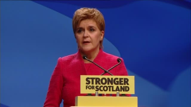 nicola sturgeon insists there will be second independence referendum / gordon brown calls for more federal uk; scotland: aberdeen: int various of... - no doubt band stock videos & royalty-free footage