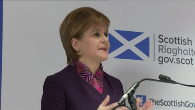 Nicola Sturgeon outlines cost to Scottish economy of leaving EU without trade agreement Edinburgh Nicola Sturgeon MSP speaking at press conference...