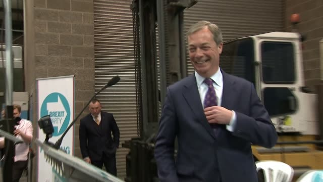 nigel farage launches brexit party to fight european elections uk coventry launch of brexit party annunziata reesmogg announced as european election... - 発表イベント点の映像素材/bロール