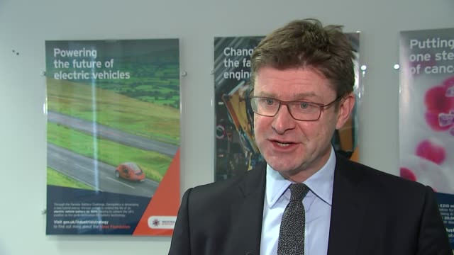 nissan confirm brexit uncertainty behind decision to move production back to japan england london int greg clark mp interview sot - governmental occupation stock videos & royalty-free footage