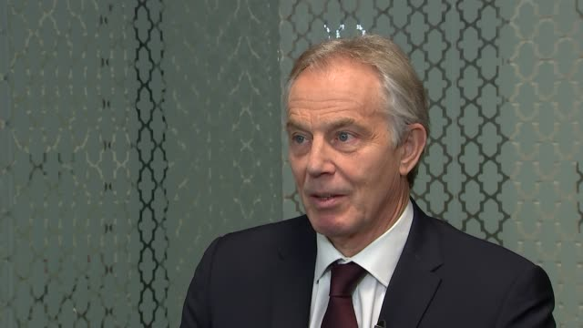 One year to go Theresa May tours the UK ENGLAND London INT Tony Blair interview SOT the key moment will be when they put the deal on the table then...