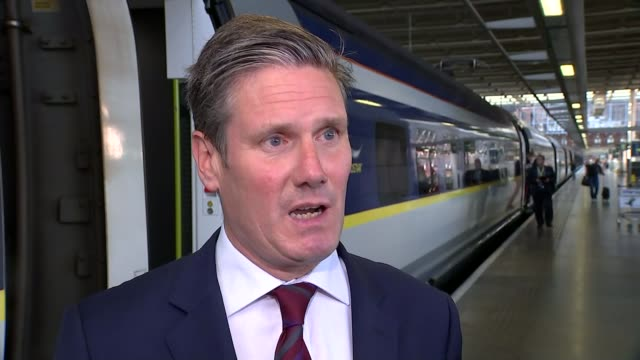 opposition promises to create 'hell' as government publishes brexit repeal bill england st pancras international station int keir starmer mp... - glasgow international airport stock videos & royalty-free footage
