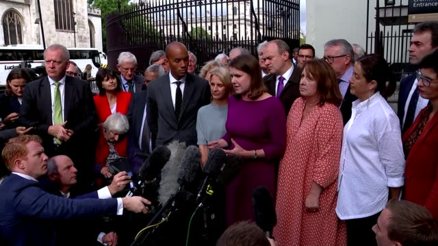 parliament resumes after suspension ruled unlawful / row over boris johnson's comments on jo cox england london westminster ext jo swinson mp... - dominic grieve stock videos and b-roll footage