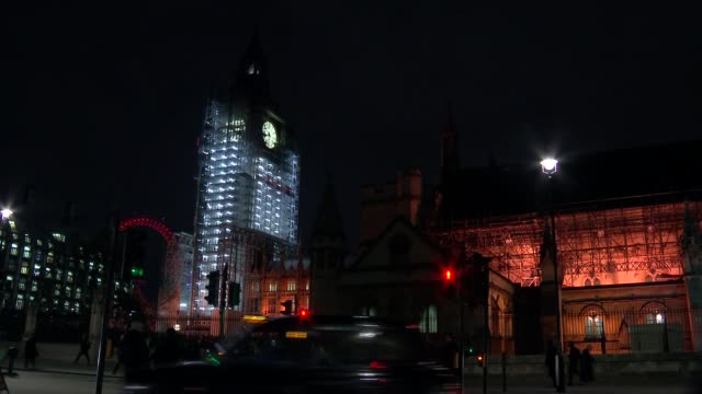 stockvideo's en b-roll-footage met parliament will get to vote on special bill setting out terms of deal england london westminster gvs elizabeth tower big ben clad in scaffolding with... - steiger bouwapparatuur