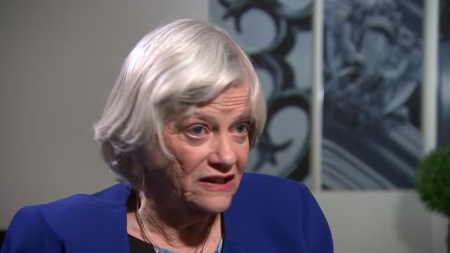 brexit party candidate ann widdecombe interview; england: london: int ann widdecombe interview sot - re why she is standing for brexit party in... - ann widdecombe stock videos & royalty-free footage