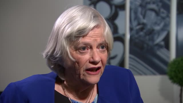 brexit party candidate ann widdecombe interview; england: london: int ann widdecombe interview continued sot - re why she is standing for brexit... - ann widdecombe stock videos & royalty-free footage