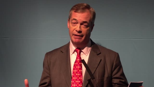 brexit party leader nigel farage launches their general election policy contract answering questions from the press farage calls for a return to a... - emigration and immigration stock videos & royalty-free footage