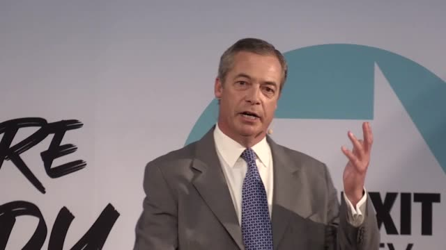 brexit party leader nigel farage says that prime minister boris johnson is going 'off the rails' in his approach to brexit mr farage was speaking as... - nigel farage stock videos & royalty-free footage