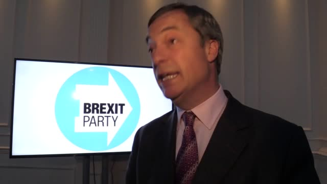brexit party leader nigel farage speaks at a rally in willenhall, near wolverhampton, where he takes aim at president obama, david cameron and george... - brexit party stock videos & royalty-free footage