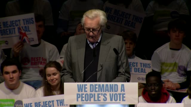 people's vote rally england london excel centre int lord heseltine speech sot part 2 of 5 - michael heseltine stock videos and b-roll footage