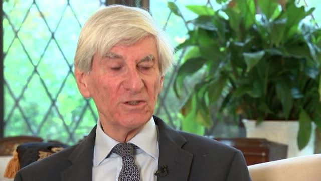 Philip Hammond accuses Boris Johnson of 'deliberately wrecking' Brexit deal chances ENGLAND INT Various shots of Prof Vernon Bogdanor reading his...