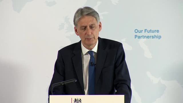 phillip hammond speech philip hammond mp speech sot re eu draft negotiation guidelines / interconnected economies of uk and eu / ttip and ceta /... - solid stock videos & royalty-free footage